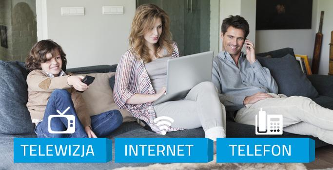Pakiety usług Internet + TV + Telefon + Mobilne